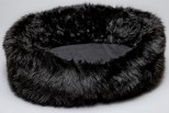 Loft Black Faux Fur Pet Bed