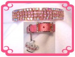 Prissy Pink Aurora Dog Collar