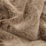 Luxury Faux Fur Pet Throw - Pale Mink