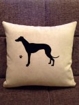 Personalised Greyhound Dog Scatter Cushion