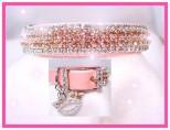 Pink Velvet Princess Dog Collar