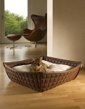 Bowl Luxury Leatherette Cat Bed