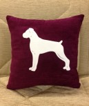 Personalised Boxer Dog Scatter Cushion