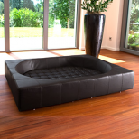 Cube Luxury Dog Bed [Leather]