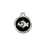 Black Enamel Tag - Fish