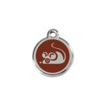 Brown Enamel Tag - Mouse