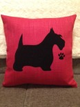 Personalised Scottie Dog Scatter Cushion