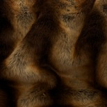Luxury Faux Fur Pet Throw - Chestnut and Honey Chinchilla