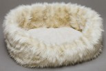 Loft Beige Faux Fur Pet Bed