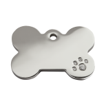 Diamante Polished Stainless Steel Tag - Bone