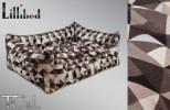 Lillibed 3D Graphic Vintage Pet Sofa - Mondrian Beige