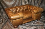 Balmoral Chesterfield Designer Pet Sofa - Real Italian Natural Leather